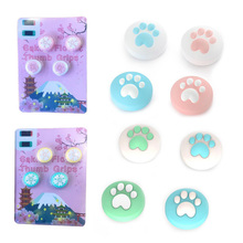 Cute Cat Paw Pink Sakura Pad Thumb Stick Grip Cap Joystick Cover For Nintend Switch Lite NS Joy Con Controller Thumbstick Case