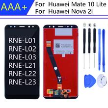 Dla 5 9 calowy ekran dotykowy HUAWEI Mate 10 Lite z ramką do wyświetlacza HUAWEI Nova 2i RNE-01 L02 L03 RNE-L21 L22 L23 tanie tanio Accalia CN (pochodzenie) Pojemnościowy ekran 2160*1080 3 LCD i ekran dotykowy Digitizer