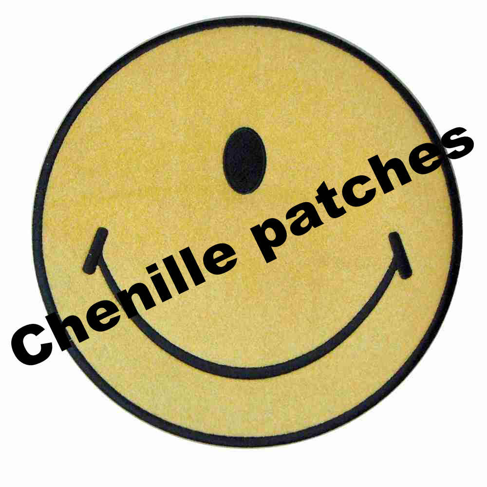 Custom Chenille Patches Embroidery Patches For Hoodie Stick-on Backing
