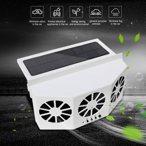 3 Portable Cooler Solar Fan Energy Exhaust Vent Air Cooler Conditioner Safe Car Auto Fan Cooling Exhaust Ventilating Fan(China)