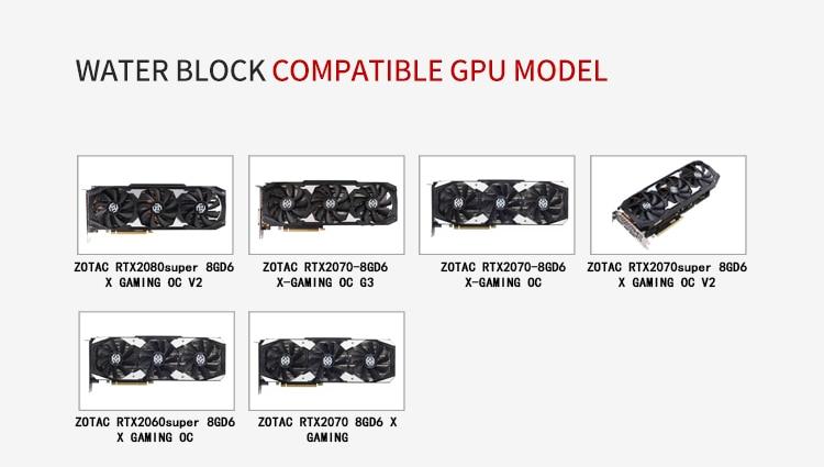 Купить с кэшбэком BARROW Water Block use for ZOTAC RTX2070 8GD6 X GAMING OC / 2070 AMP ZT-T20700D-10P / GPU Block Support Backplate D-RGB 3PIN