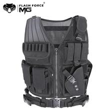 цена на MGFLASHFORCE Tactical Vest Molle Swat Army Military Combat Assault Hunting Fishing Shooting Airsoft Vest