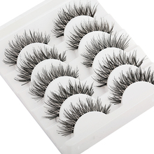 Thick Lashes Extension-Tools Eye-Makeup Faux-Mink-Hair Handmade Fluffy-Wispy Long-Cross