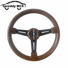 Universal 14 Inch Solid Racing Steering Wheel 350mm Car Modification Peach Wood Sports Steering Wheel MC-ND20S0318135145(China)