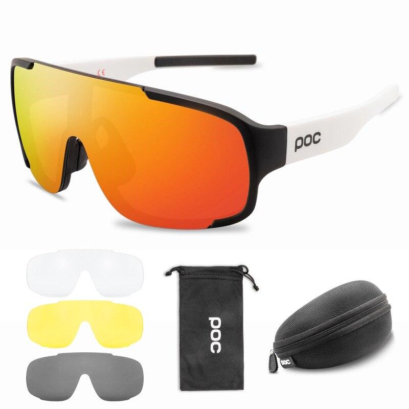 POC-gafas de ciclismo polarizadas para hombre y mujer, lentes deportivas para bicicleta de montaña y carretera, 4 unidades
