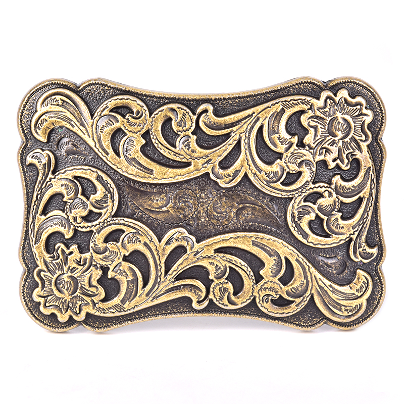 Retro Square Mens Belt Buckle Cowboy Western Large Metal Alloy Buckles