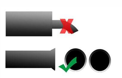 Автомобильный турбо звук имитатор глушителя дропшиппинг S/M/L/XL Fit серебряный мотоцикл/автомобильный глушитель прямой для