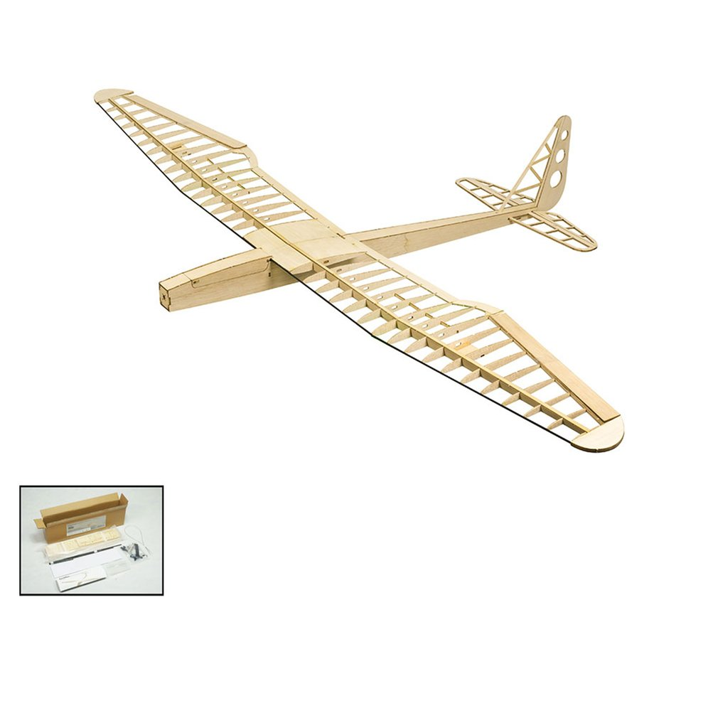 EP Sunbird Balsa Wood Glider Plane With 8 Inch Folded propeller 1.6M Wingspan Biplane RC Airplane Aircraft Model Toys KIT/PNP image