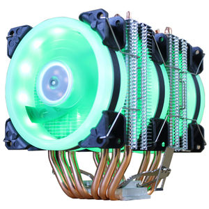 Image 3 - CPU Cooler High Quality 6 Heat Pipes Dual Tower Cooling 9cm RGB Fan LED Fan Support 3 Fans 3PIN CPU Fan For AMD And For Intel
