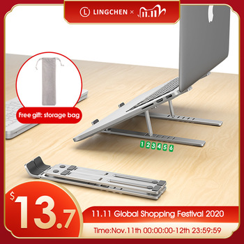 Uchwyt na laptopa LINGCHEN do notebooka MacBook Air Pro uchwyt na laptopa składany uchwyt na laptopa ze stopu Aluminium do notebooka PC tanie i dobre opinie licheers CN (pochodzenie) Laptop Holder Laptop stand Metal Foldable Laptop Holder Tablet Stand Stand for MacBook pro Air