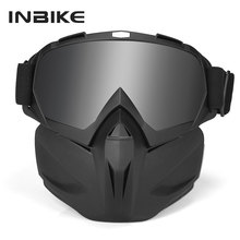 Motorcycle Goggles Motocross Sunglasses With Face Mask Windproof Skiing Glasses Women Men Cycling MTB Bicycle Motorbike