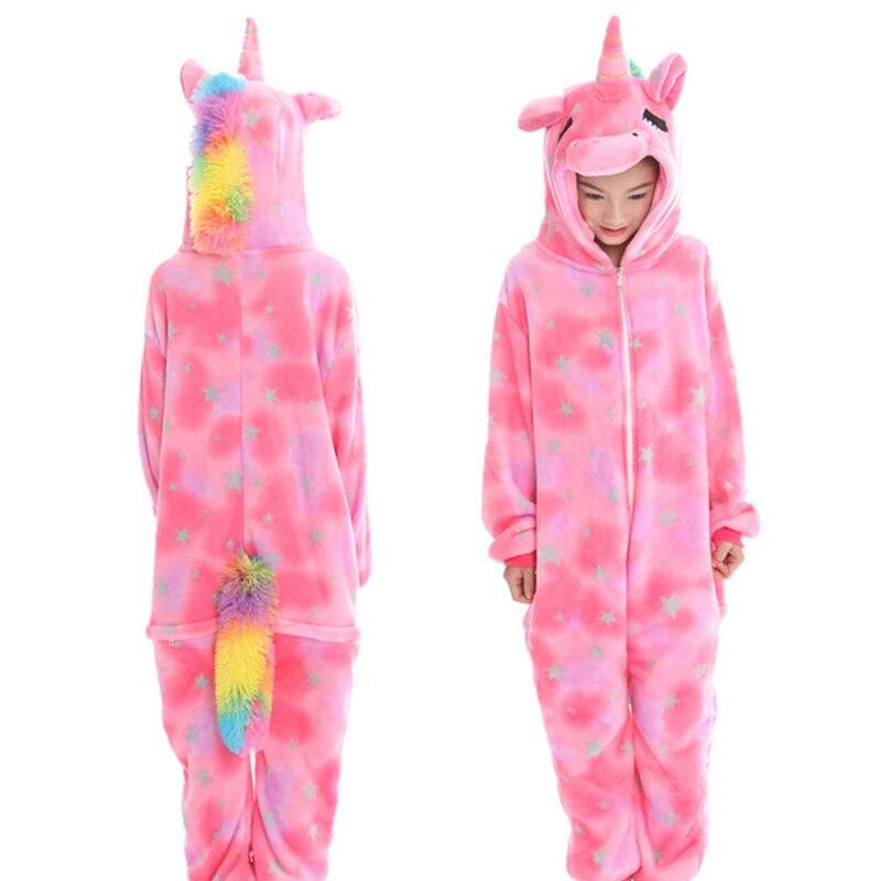 onesies kigurumi ponto crianças velo pijamas