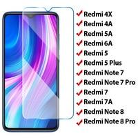 ¡2 uds! Protector de pantalla HD 9H para Xiaomi Redmi 7, película protectora de vidrio templado 9H para Redmi 7A 6A 5A 4A 4X, K20 6 Pro 5 Plus