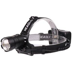 Image 4 - Neue kommen 50000lm XHP 70,2 32W leistungsstarke Led scheinwerfer Scheinwerfer zoom kopf lampe taschenlampe Laterne 7800mah 18650 batterie