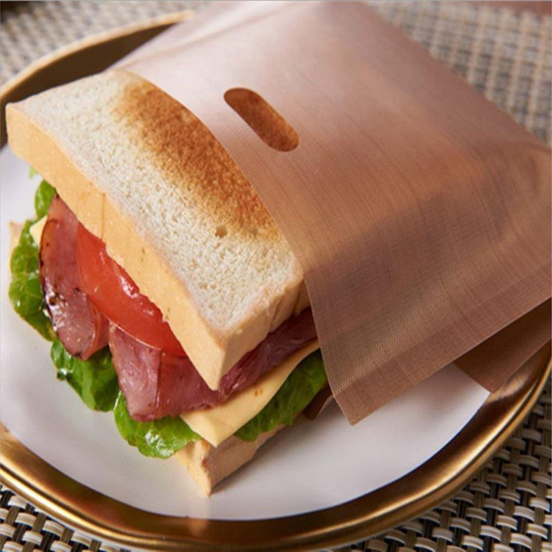 1pcs Toaster Bags for Grilled Cheese Sandwiches Made Easy Reusable Non-stick Baked Toast Bread Bags image