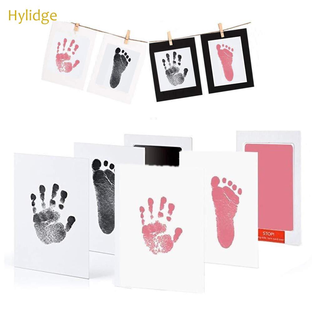 Безопасные нетоксичные подушечки с детскими следами, ручная печать, без прикосновения к коже, чернильные подушечки для 0 6 месяцев, сувенир для новорожденных, собак, лап|Наборы для отпечатков рук и стоп|   - AliExpress - Для новорожденных