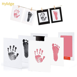 Safe Non-toxic Baby Footprints Handprint No Touch Skin Inkless Ink Pads Kits for 0-6 months Newborn Pet Dog Paw Prints Souvenir(China)