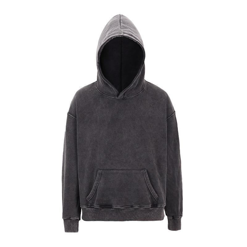 New Oversize Fleece Sweat Plain Sweatshirt Pullover Hoodies Hip Hop Hoody