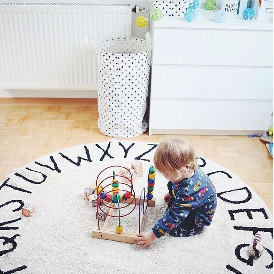 Tapis de sol pour enfants tapis de chambre doux rond coton rembourré tapis de jeu enfants chambre décor Photo accessoires bébé ramper couverture tapis de jeu