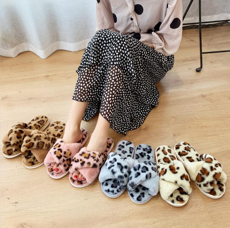 Winter warm indoor slippers home non slip comfortable woman slippers fur slides damesschoenen zapatillas casa hombre pantoufle in Slippers from Shoes