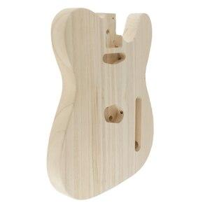 Image 3 - Cuerpo de madera para guitarra eléctrica, barril de madera para guitarra eléctrica Telecaster, artesanía manual sin terminar, lijado ahuecado, piezas para cuerpo de guitarra eléctrica