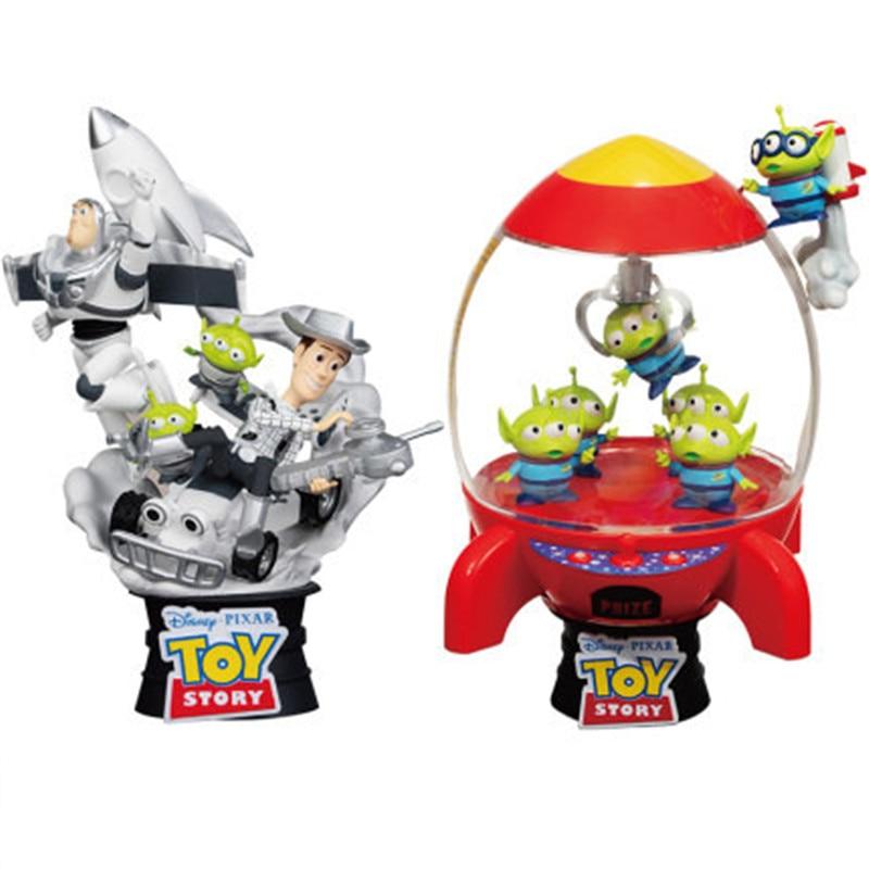 Disney jouet histoire Alien fusée attraper extraterrestres Mini griffe Machine jouet Woody Buzz lumières scènes Statue décoration X4748