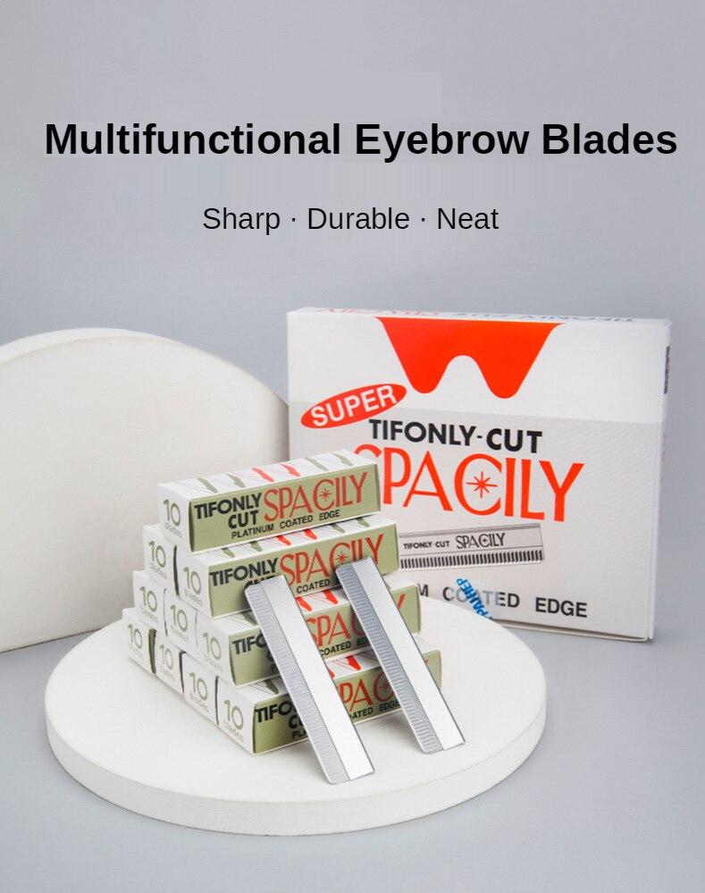 10 100 pçs sobrancelha trimmer lâminas sobrancelha