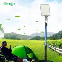 Portabilidade guarda-chuva luz IP65 12v led foco de acampamento ao ar livre curso Da Estrada do jardim sombrinha tenda Auto-contido iluminador