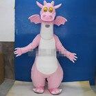 Pink Dinosaur Mascot...