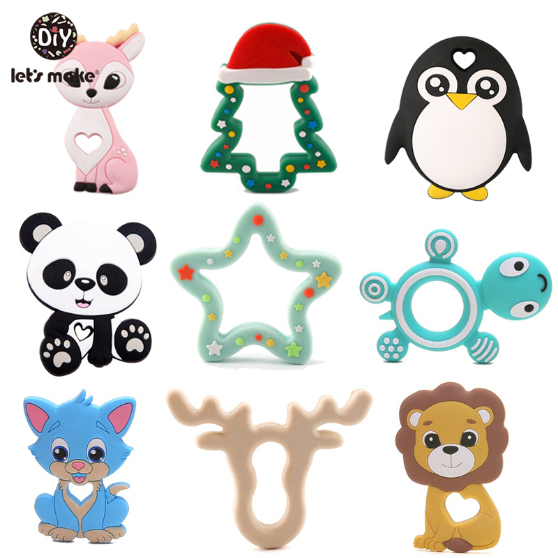 Tiny Rod 1pc Silicone Teether Bambi Sika Deer Sensory Toy New Born Baby Toy Accessories Care Organic Nursing Baby Teether(China)