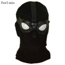 Black knitted Face Mask Halloween Hero Mask Stealth Battle Suit Halloween Decorations Film And Television Halloween Headdress