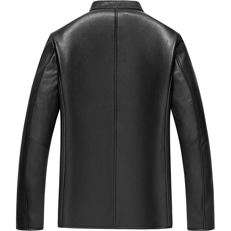 Genuine Leather Jacket Men 100% Buckskin Leather Coat Men's Autumn Winter Jacket 2020 Wool Cashmere Lining GD-181024