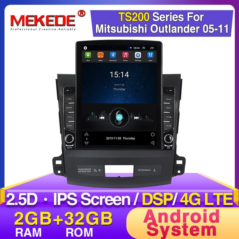 Tesla Style 9.7inch Car Dvd Gps Multimedia Player For Mitsubishi Outlander Xl 2 Car Dvd Navigation Radio Video Audio Player 4007