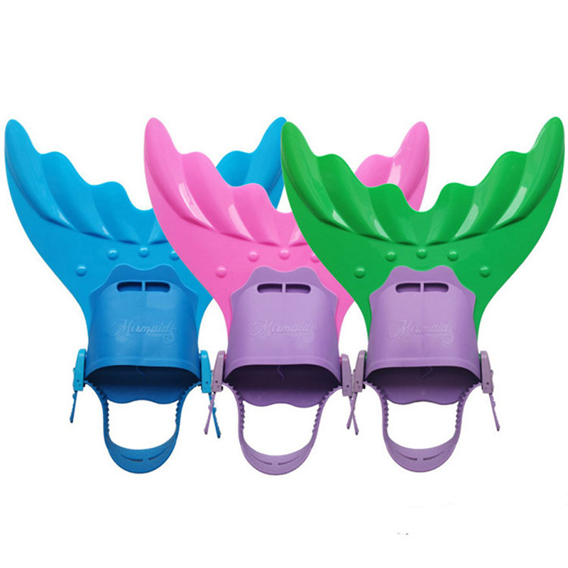 Kids Girls Mermaid Swimming Diving Monofin Swimmable Tails Fin Training Flipper
