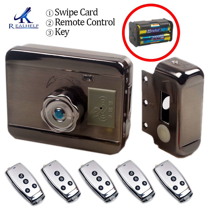 Image 3 - Electronic RFID Door lock Wireless Electric lock for Metal Electric Door Lock 125KHZ RFID Card Lock Keyless Motor door lock-in Electric Lock from Security & Protection