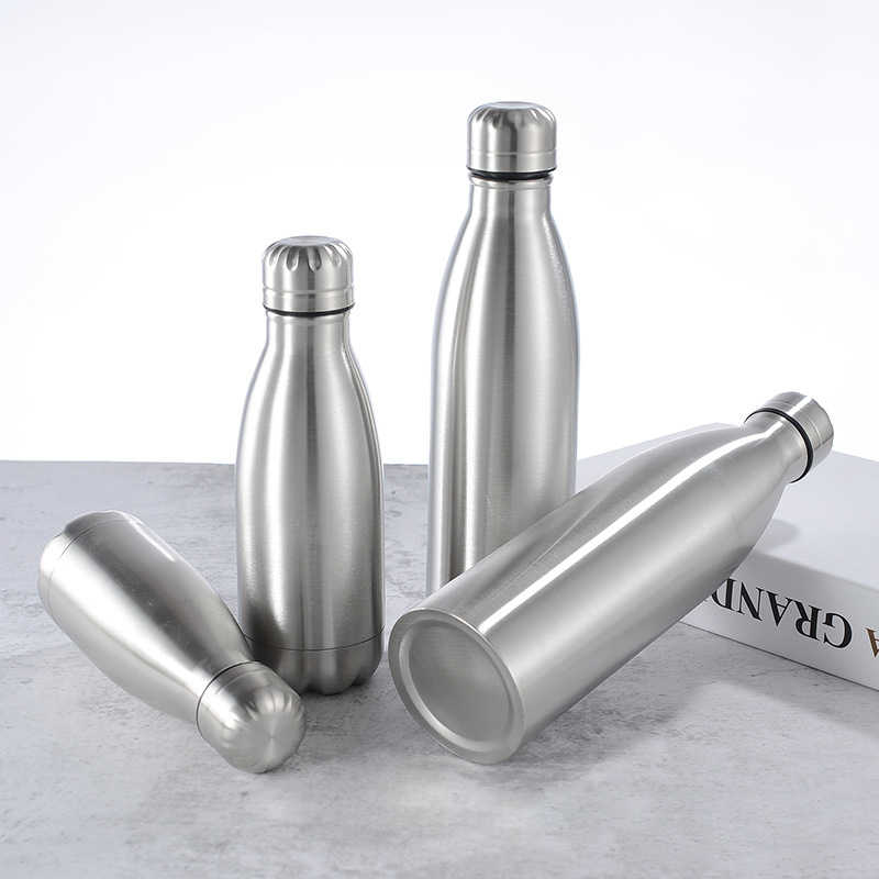 500-1000ml Stainless Steel Water Bottle Insulated Drink Sport /& Gym Drink Flask