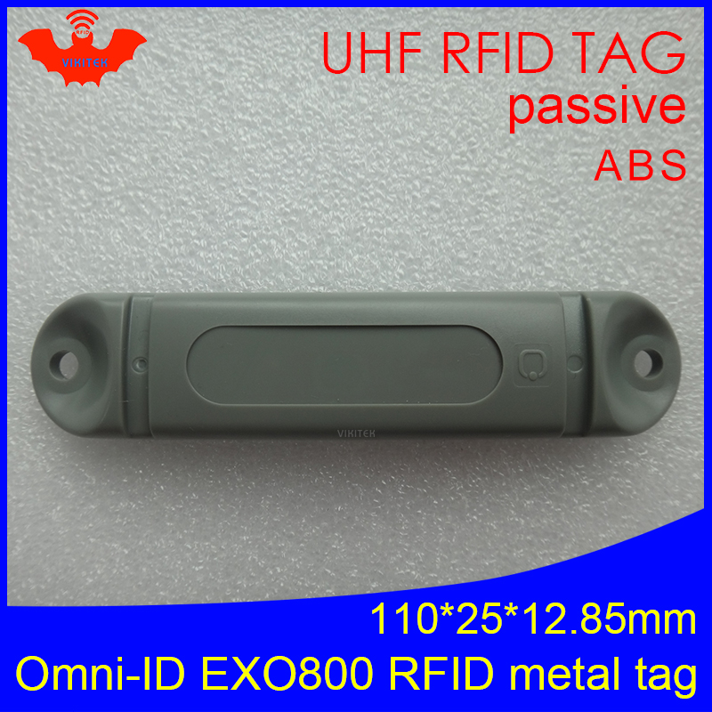 UHF RFID Anti-metal Tag Omni-ID EXO 800 EXO800 915mhz 868mhz Impinj Monza4QT EPCC1G2 6C Durable ABS Smart Card Passive RFID Tags