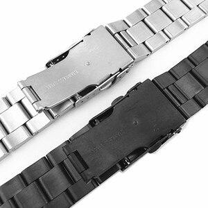 Image 5 - Pulseira de aço inoxidável arco borda cinta boca pulseira metal banda 20 22mm relógio para seiko ect