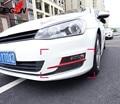2 шт. аксессуары новые! ABS хром 2 шт красные передние противотуманные фары крышка для VW GOLF 7 MK7 2014-2017