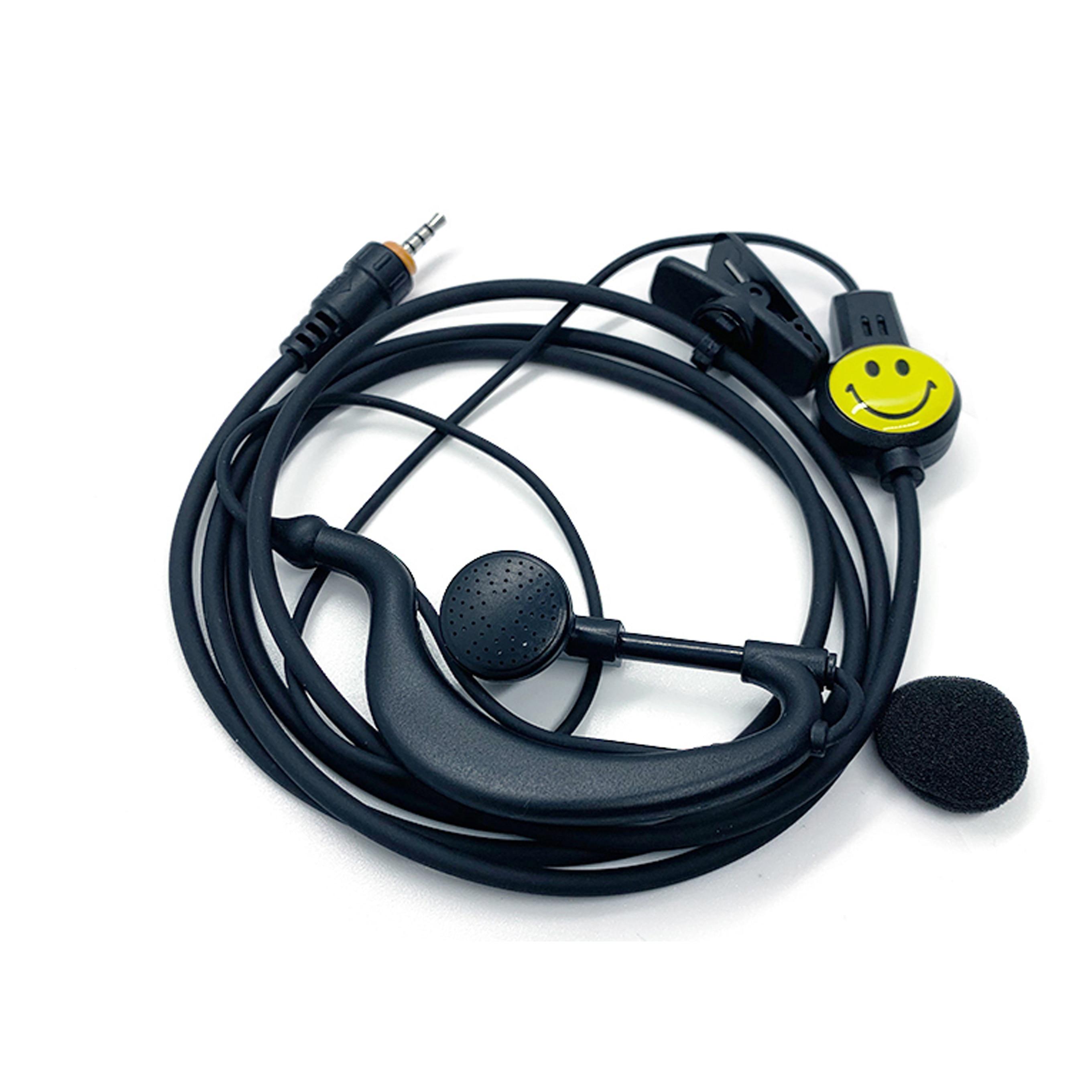 Walkie Talkie Headset Earpiece Ear Hook Earphone Two Way Radio Headset T Type Threaded 2.5MM Earphone For JIANGKE Haoyu