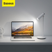 Baseus Stepless Dimmable LED USB Lamp Office Reading Desk Lamp Eye Protection Study Lamp USB Rechargeable Work Lamp USB Gadget