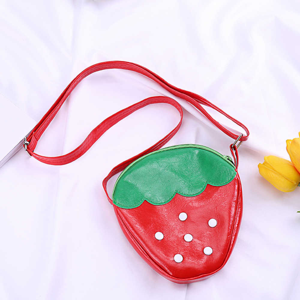 Девушки милые мини Crossbody сумка Детский кошелек для детей, ананас, арбуз сумка фруктов Форма Сумки из натуральной кожи милый подарок на день рождения
