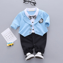 Infant Newborn Baby Boys Clothes 0-24M Gentleman Long Sleeve Rompers Kids Bodysuit Jumpsuit Cute Toddler #m