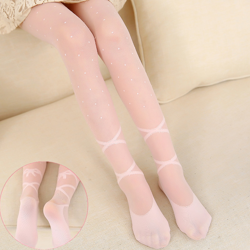 Candy Colors Baby Tights Girls Ballet Tights Summer Mesh Children Girls Stockings Baby Silk Tights Dot Kids Pantyhose