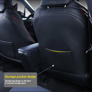 Image 3 - Car Seat Covers Set Leather For Toyota CHR 2017 Present Car Covers Styling Seat Protector Cushions Internal Accessories
