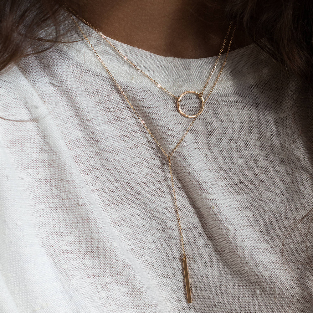 eManco 316L Stainless Steel Necklace women Dainty Pendant Necklace Best Friend Necklace Rose Gold Plated women Jewelry