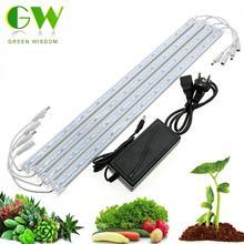 Полный спектр светодиодный светильник для выращивания 12 В светодиодный бар жесткие полосы лампы для растений красный синий 3:1 водонепроницаемый Фито лампа для аквариума гидропоники