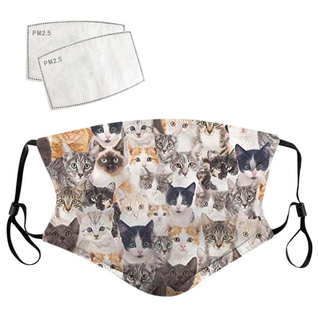 Adult Multi-Cat Themed Face Mask