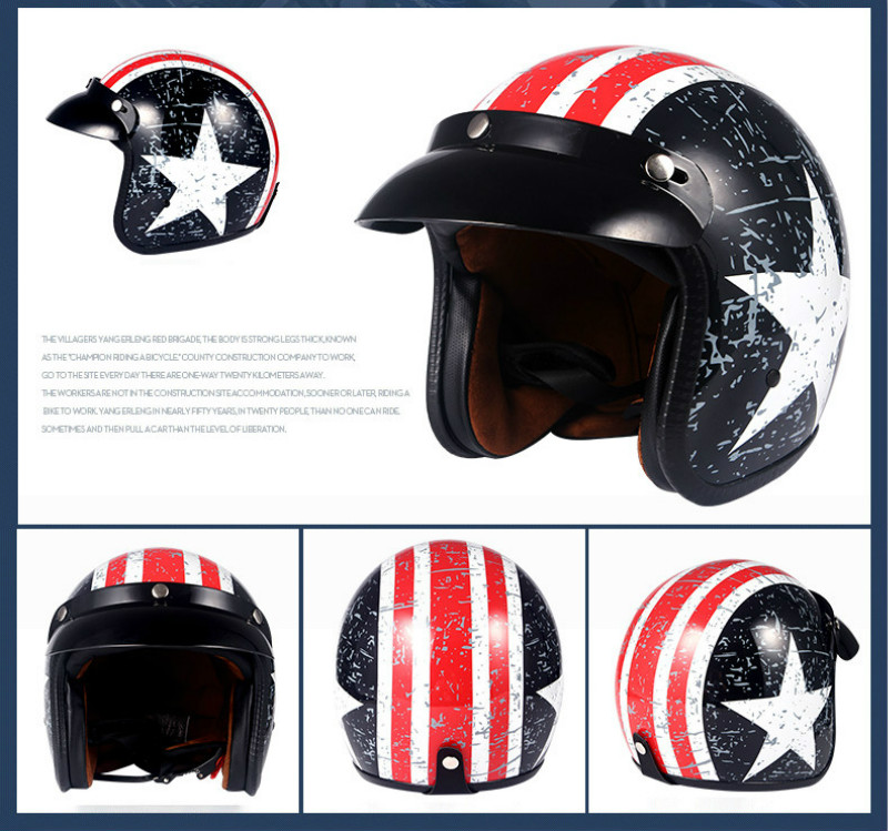 Image 5 - Helmets for Cross country Motorcycles Sunscreen Locomotives Half helmets Four season Electric Vehicle Safety Helmet-in Helmets from Automobiles & Motorcycles
