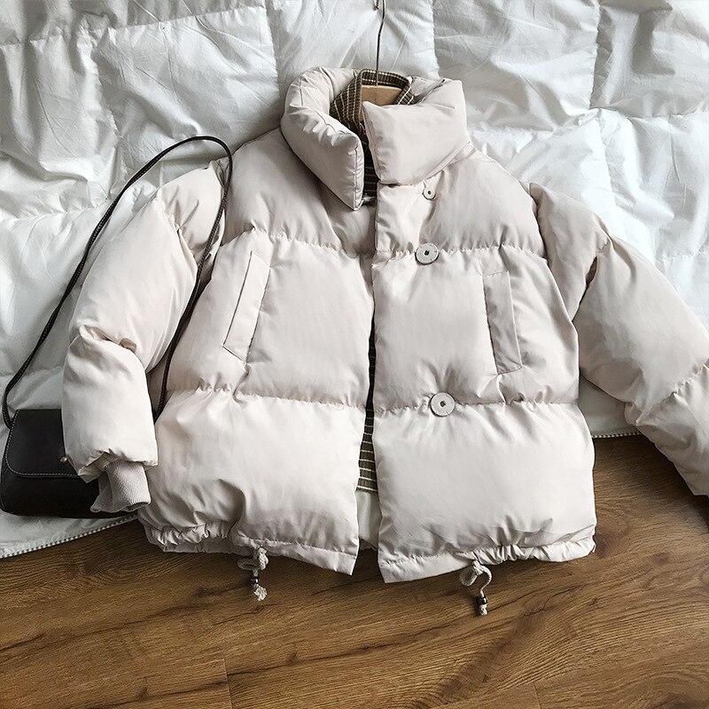 CRRIFLZ Autumn Winter Collection Solid Women Down Jacket Warm Thicken Stand Collar White Duck Down Parka Women's Jackets Coats